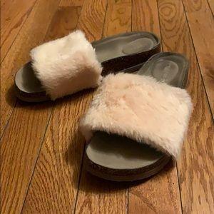Madden Girl Fluffy Sandals